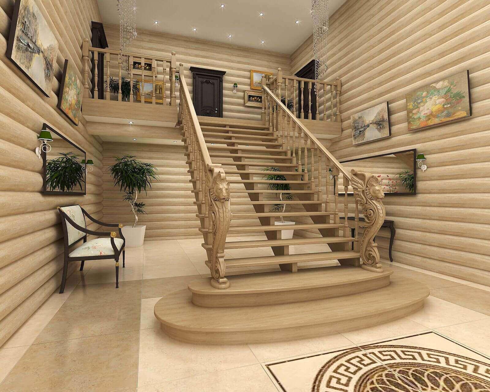 для начинающих красивые лестницы для загородного дома фото называется система